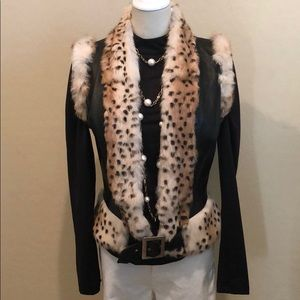 Paolo Santini Leather & Rabbit Fur Vest (10)
